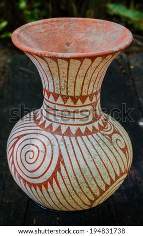 Pottery Decorative Vase - stock photo