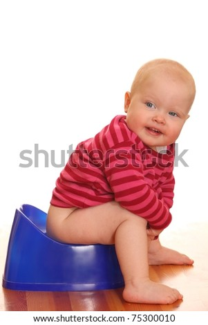 Potty training - stock photo