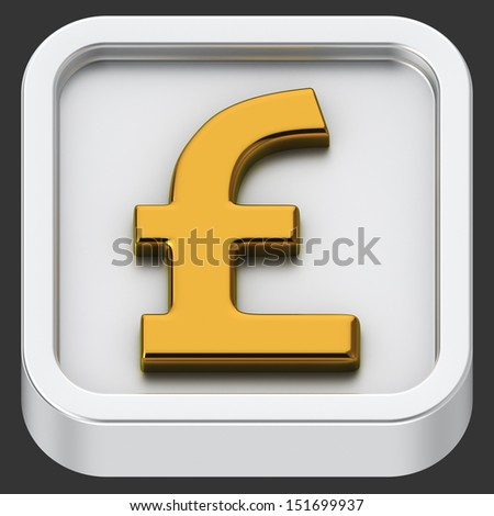 Pound currency rounded square shape application icon