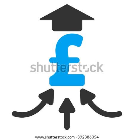 Pound Financial Aggregator raster icon. Pound Financial Aggregator icon symbol. Pound Financial Aggregator icon image. Pound Financial Aggregator icon picture. Pound Financial Aggregator pictogram. - stock photo