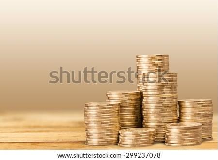 Pound, money, coins. - stock photo