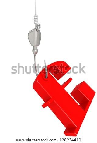 Pound on hook - stock photo