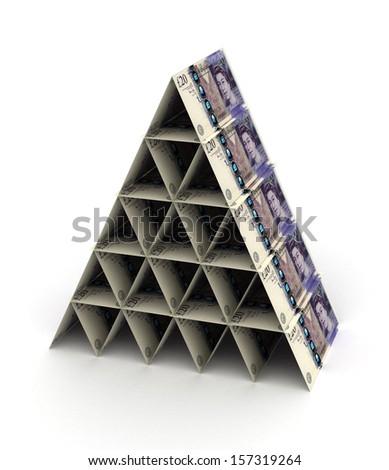 Pound Pyramid - stock photo