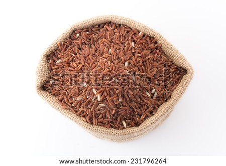 pound red rice on white background