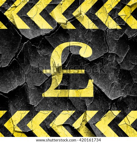 pound sign, black and yellow rough hazard stripes