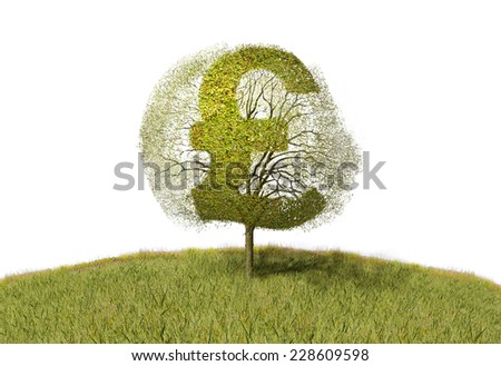 pound sign on a tree - stock photo