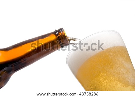 Pouring a Beer - stock photo