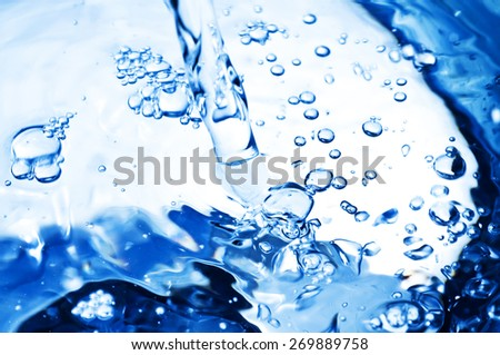 Pouring Fresh water - stock photo