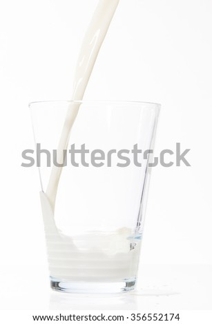 pouring glass of milk