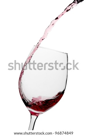 Pouring Glass of Wine