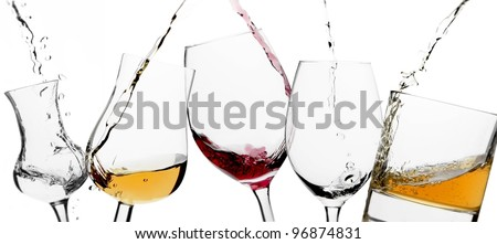 Pouring glasses