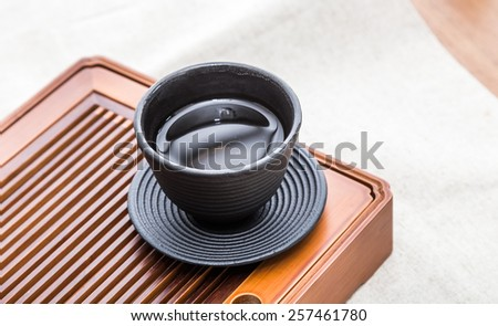Pouring Healthy Green Tea isolated  - stock photo