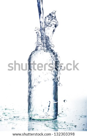 Pouring water - stock photo