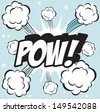 POW! Illustration of explosion or big fight in comics book style - stock vector