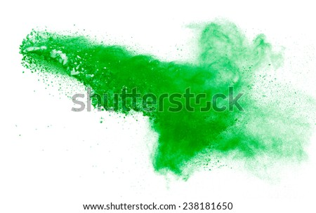 powder explosion isolated on white - stock photo