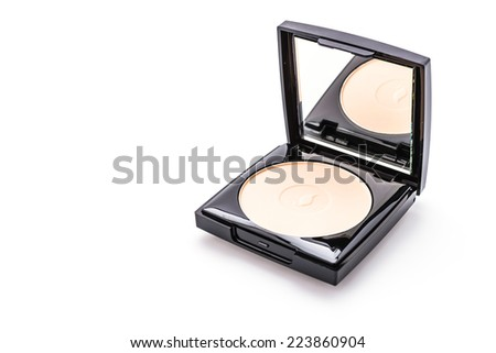 Powder face cosmetic isolated on white background