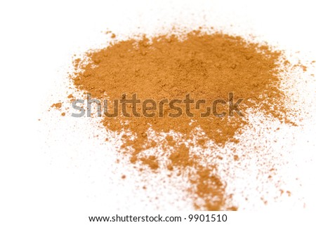powder isolated over white - stock photo