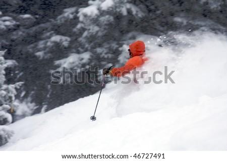Powder trail - stock photo