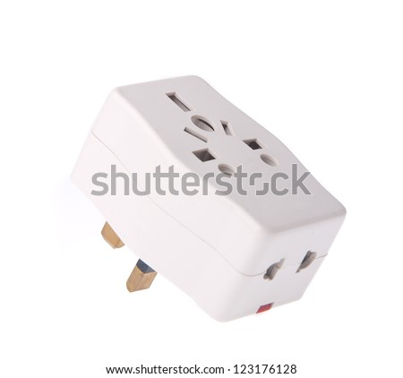 Power Adaptor on the background. - stock photo