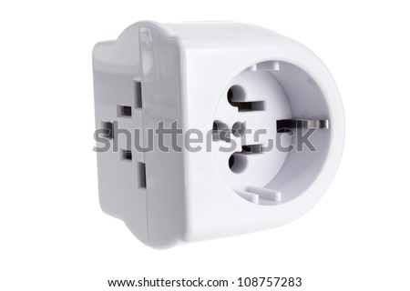 Power Adaptor on White Background