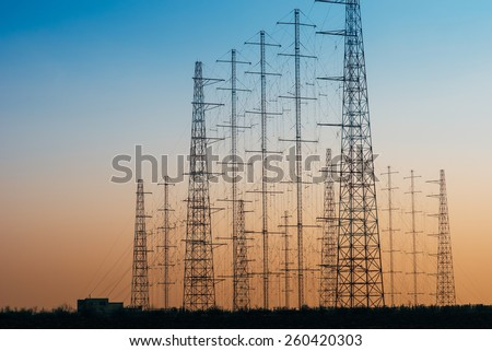 Power and communication lines