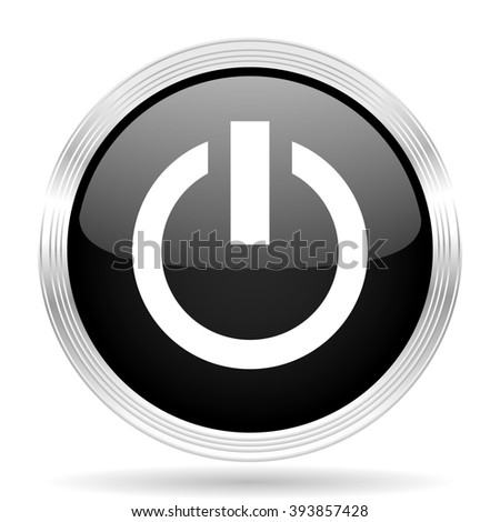 power black metallic modern web design glossy circle icon