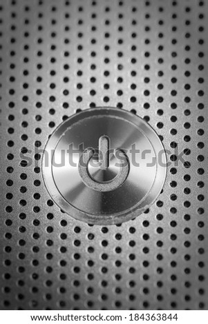 Power button, close up  - stock photo
