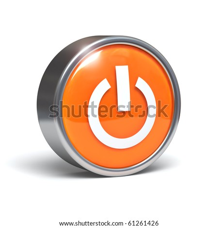 Power button - 3D graphics with clipping path