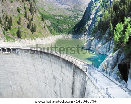 power dam - stock photo