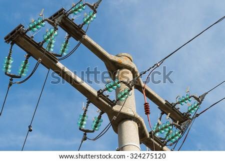 power distribution - stock photo
