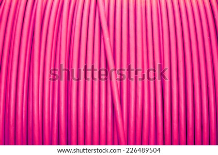 Power electrical control cable - stock photo