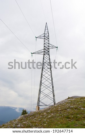 Power Electricity Line - stock photo