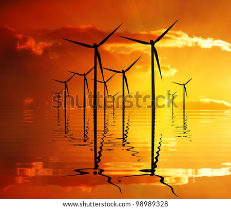 Power from nature - stock photo