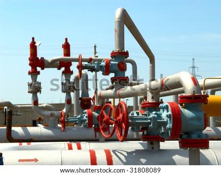 Power gas plant - stock photo