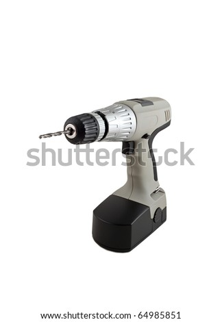 power hand drill isolated on white background