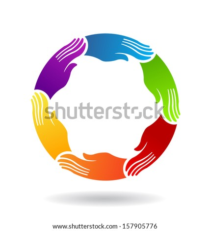 Power Hands Circle Logo Template Stock Illustration 157905776 ...