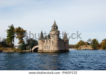 Power House of Boldt Castle in Thousand Islands, New York, USA - stock photo
