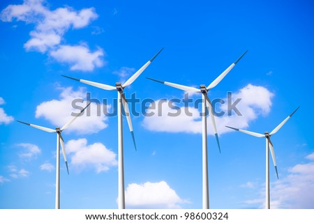 Power in blue - stock photo