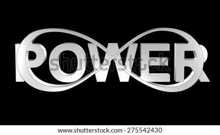 power infinity - stock photo