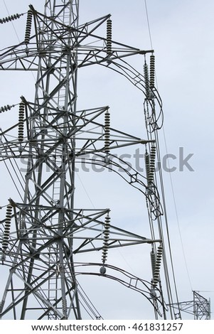 Power Line against sky background