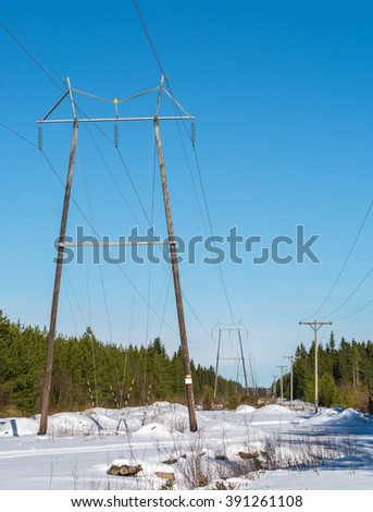 Power lines in Finland