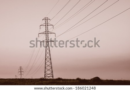 power lines on field