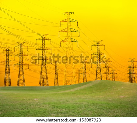 Power Lines, Power Transmission Towers