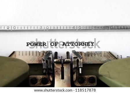 Power of attorney - stock photo