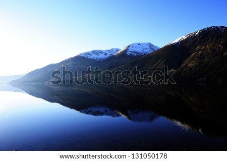 Power of reflection - stock photo