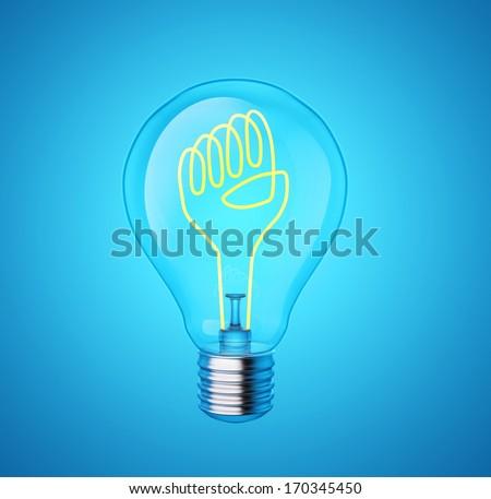 power of the idea - stock photo