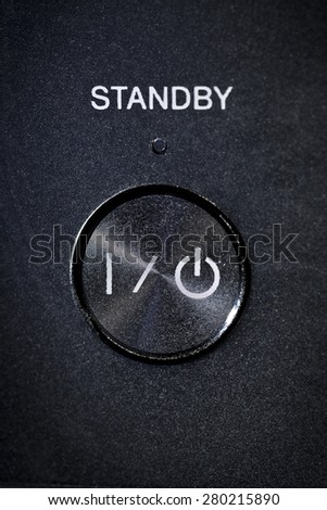 Power on, off and standby button - stock photo