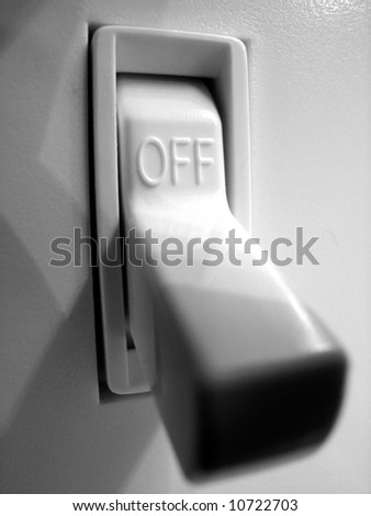 Power or light switch inside of a home - stock photo