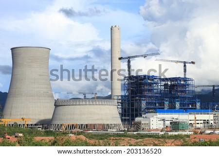 Power Plant Construction - stock photo
