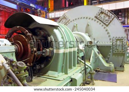 Power plant  generator - stock photo